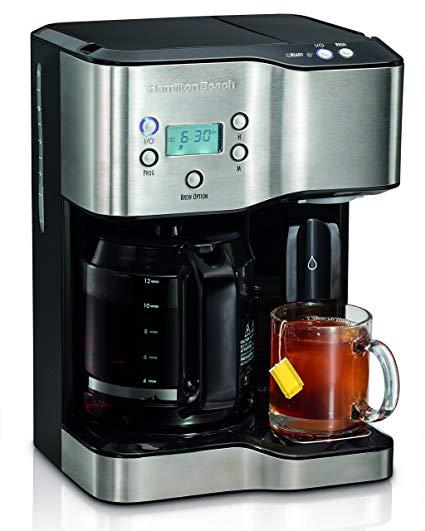 Cafetera y dispensador de agua caliente
