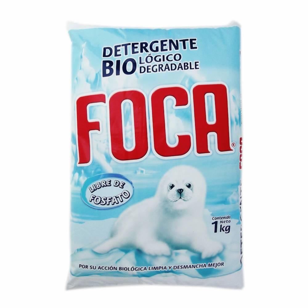 Detergente en polvo Foca para ropa blanca y de color
