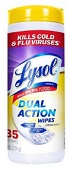 Toallitas Lysol Dual Action desinfectantes para superficies Citrus Scent