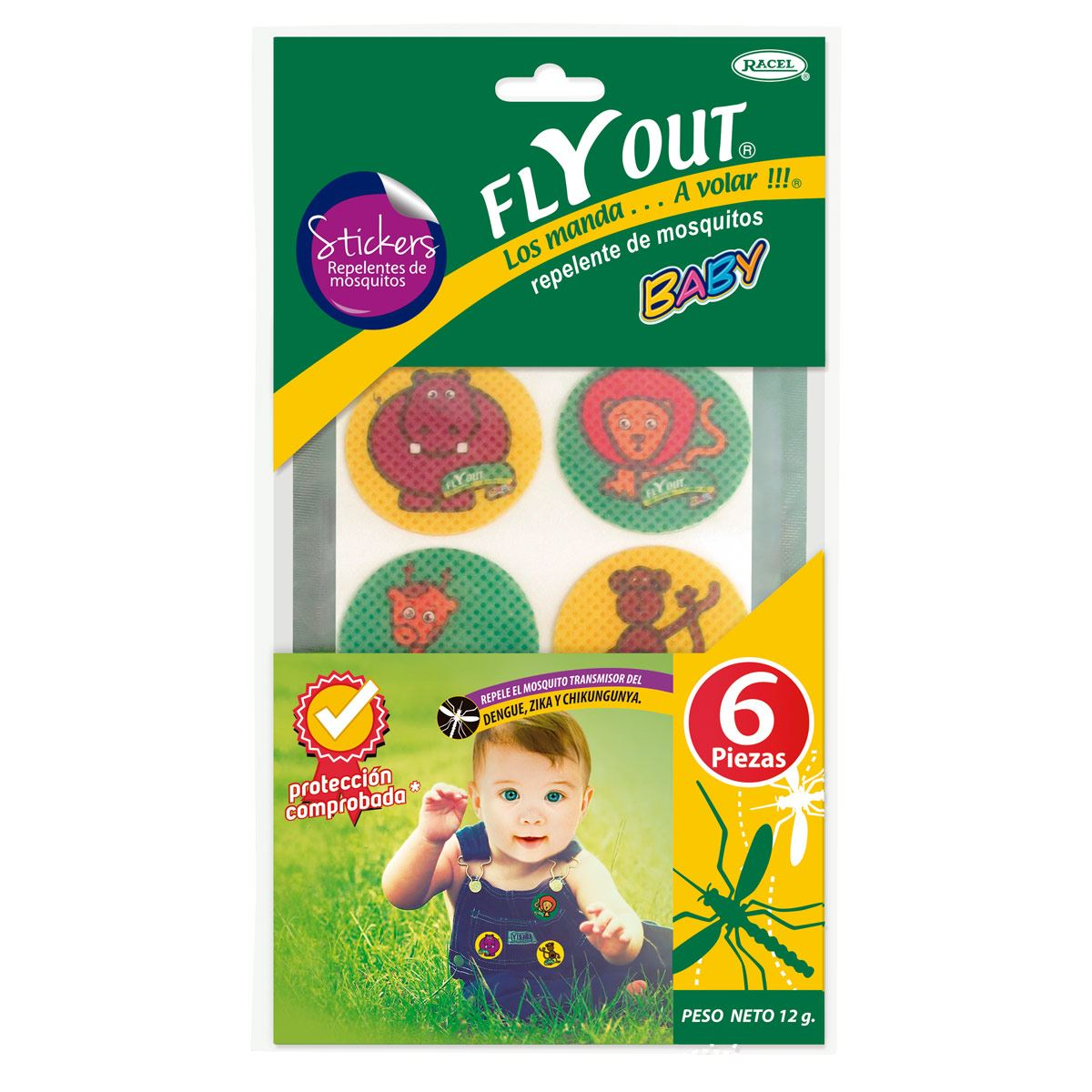Repelente de insectos Fly Out Baby Stickers