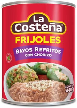 Frijoles Bayos Refritos con Chorizo