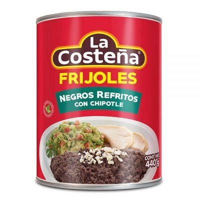 Frijoles Negros Refritos con Chipotle