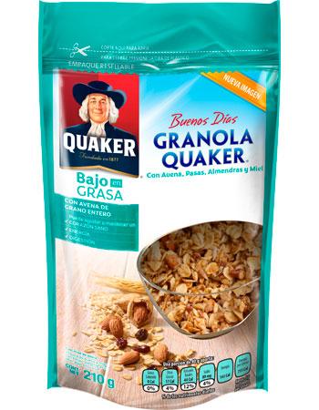 Granola Quaker Baja en Grasa