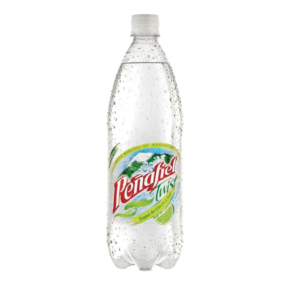 Agua mineral Peñafiel - toque de sal y limón- envase Twist- 1 lt