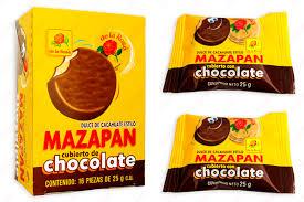 Mazapán De La Rosa cubierto de chocolate