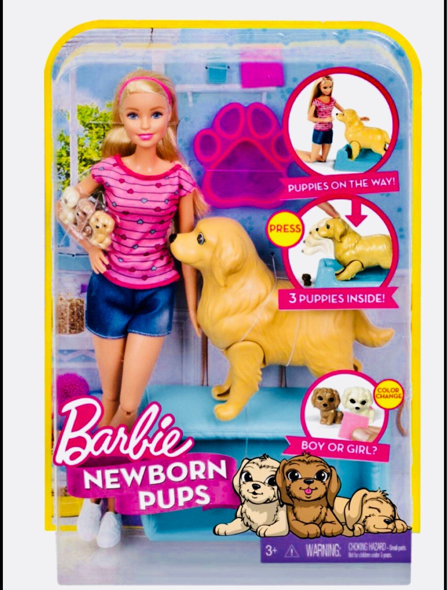 Barbie Cachorritos Recién Nacidos