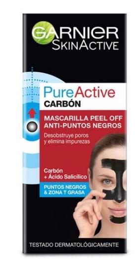 Mascarilla Garnier Pure Carbon Active-  Peel Off